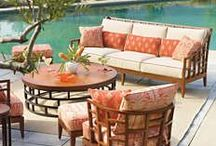 Vacation Home / My imaginary Floridian hideaway; mid-century meets colonial with a touch of the imagined exotic.