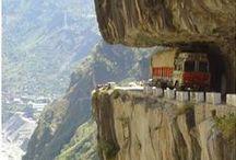 Routes vertigineuses / Routes, chemins, sentiers...attention  danger!