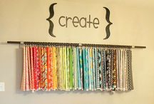 Sewing Room Organization Ideas / Keep your supplies close and hand and easy to find.
