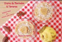 Creme de Marmelos & Tâmaras (sobremesa ou snack pre-treino) / Uma sugestão deliciosa, saudável e muito fácil de fazer, que podem preparar como sobremesa ou como lanchinho pré-treino...VEgan, sem glúten, sem açúcar, sem gordura adicionada.