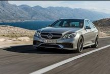 "E 63 AMG 2013 / After bringing you the new E-Class Sedan, Estate, Coupe and Cabriolet, we are very pleased to be able to show you the latest addition to the new E-Class range - the E 63 AMG. The impressive 5.5 litre V8 biturbo engine has been uprated from 525 hp to 557 hp, with 720 Nm of torque. The new design presents a more powerful character and dynamic appearance with the new ""twin blade"" radiator grille and the new ""A-wing"" in the AMG front apron."