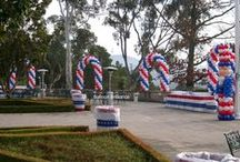 4th of July Celebration Decor / Balloon Decor (Red, White & Blue)