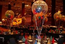 Table Bouquets (helium filled) / How to transform a room ... add helium balloons!