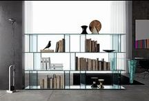 Fiam 'Bookcases' / Fiam was born from one man's passion for glass. Founded by Vittorio Livi in 1973, Fiam designs, develops and produces items of furniture in curved glass, creating them through a combination of craftsmanship and industrial processes, actually merging tradition and innovation, hand-crafting and design.