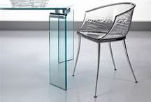 Fiam 'Chairs' / Fiam was born from one man's passion for glass. Founded by Vittorio Livi in 1973, Fiam designs, develops and produces items of furniture in curved glass, creating them through a combination of craftsmanship and industrial processes, actually merging tradition and innovation, hand-crafting and design.