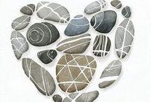 decori di pietra / pietre decorate / stones art