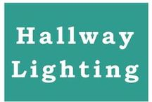 Hallway Lighting / Don't leave the hallways out! Carry that chic style all the way through your home.