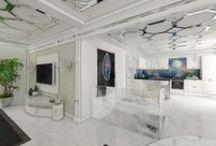 White and Glamorous home / enter and discover the glamorous white residence: http://www.valentinaguzun.ro/portofoliu/case/casa-white-glamour