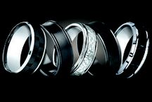 Gentleman's Wedding Bands / High quality men's wedding bands... available in an assortment of metals and fine materials.