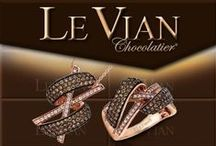 Le Vian / Well known for their use of chocolate diamonds, the fine jewelry creator, Le Vian, is elite in couture jewelry creation. They meld a perfect union of style, luxury, fashion, and trends, to create handcrafted fine jewelry. Only the most rare diamonds and gemstones are used in the creation of their sophisticated pieces.