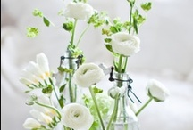 homedecoration: flowers / how to decorate beautifully with flowers and green in and outside the house / by tuatua