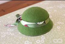 Hüte und Taschen für cloth dolls
