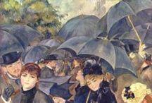 Umbrellas In Art / I seem to like umbrellas in art.