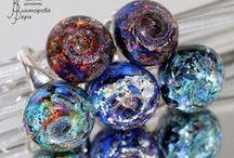 Glass rings by Vera Viktorova / Glass rings handmade by Vera Viktorova
