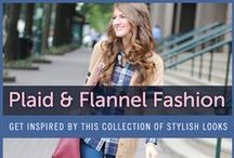 Plaid and Flannel Fashion / Plaid and flannel shirts are perfect for fall. There's nothing comfier than a flannel shirt and boots on a cold day, but plaid flannel shirts have a lot more to offer than just comfort! Wear it at the office with a pencil skirt and some accessories, or channel the inner lumberjack in you and pair it with denim and boots. See our collection of plaid and flannel shirts to get you inspired for the cooler weather.