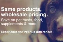 What Is PetPlus? / Created by pet parents, for pet parents, PetPlus is a fast and easy way to save on pet medications, food, vet visits and more. PetPlus offers members wholesale prices and guarantees the lowest price on all leading brands.