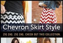 Chevron Skirt Style / Zig Zag. Zig Zag. The chevron pattern has really rose to prominence in women's fashion over the last few years. While it's an eye catching design, it can be a challenge to figure out what to match it with. Here are some stylish outfits with the chevron skirt for your inspiration!
