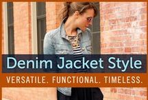 Denim Jacket Style / Denim jackets are timeless and versatile. The options are endless when it comes to the denim jacket. Check out our women's denim jacket style board for some inspiration!