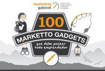 Marketto Gadgets / Los Marketto Gadgets son una iniciativa de Marketing Gabinet dirigida a emprendedores y profesionales de la empresa. Consisten en 100 pequeñas píldoras, con formato de consejos y recomendaciones fundamentales para la gestión del marketing y del área comercial.