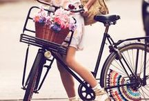 Bycicles and flowers
