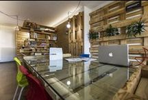 MODOM/OFFICE/ / Modular Work Space_ Contemporary/Creative/Economic Interior  Design in OSB Pallets