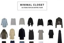 Capsule Wardrobe / Versatile, functional and minimalist fashion for women. Staple wardrobe pieces that maximize utility and minimize hoarding and excess.
