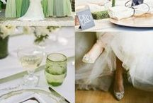 Shades of Green Wedding Ideas / Weddings Green Shades - #weddingideas - From bouquets to bridesmaids dresses, centerpieces to cakes, get tons of inspiration for a #Green colors for your wedding.