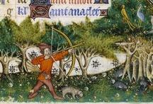 Medieval book illumination.