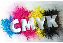 Colour patterns / CMYK --> used in colour printing. Cyan, Magenta, Yellow and Key (Black)