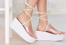 Crazy for Flatforms / They come in all shapes, colours and sizes. Walk on over with these gorgeous flatforms.