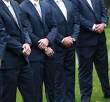 Groom & Groomsmen / Grooms and groomsmen who bring their serious GQ style game to the wedding day festivities.