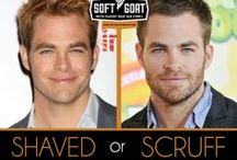 Shaved or Scruff? / Which look do you prefer on your favorite Hollywood hunks? Tell us!