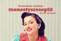 Sosiaalisen median menestysreseptit / Miten somessa voi onnistua? Lue kirja (bit.ly/some-kirja) ja ota vinkkiä tämän boardin sisällöstä. #kirja #some #somefi #menestysreseptit