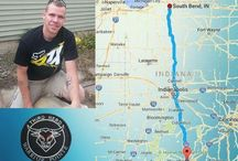 Keep up with Indiana's Aaron and Jack. Warrior pointe / Warrior Pointe's Indiana First Sgt. Aaron Pence and his Iraqi Battle Buddy Jack McIlwain started their Veteran Suicide Awareness March across Indiana this rainy morning, June 1st 2015, from Sellersburg Indiana in southern Indiana. Their destination.... South Bend Indiana!  Follow our warriors!