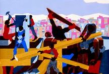 """""""Jacob Lawrence: East Coast — West Coast exhibitions open April 2015"""" / See the complete blog entry. Remember to comment! —  http://www.irequireart.com/blog/?p=393"""