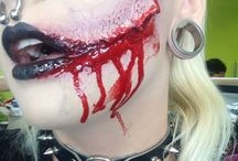 By me / Beauty and sfx makeup , colourful hair