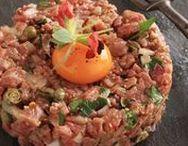 Tartar / Tatar, Tartar, tartare, Fisch, Fleisch, Gemüse