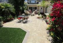 Patio / Western Pavers can help make you patio a natural extension from indoors to your outdoor living environment. Borders in different paver styles and colors help define the area and shape of your patio and make smaller spaces seem larger.