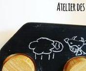 Atelier des enfants dessiner / Jeux-  dessiner - Jeaux bois - Toys wood - artisanat- home made - hand made