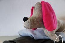 Oh! Mon ami chiens! / cani bassotto di lino e cotone