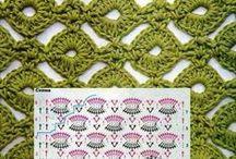 tığ işi- haeckelmuster - crochet pattern / model ve yapılışları