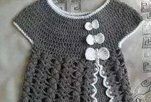 cocuk tığ işi elbiseler / elbise model ve örnekleri