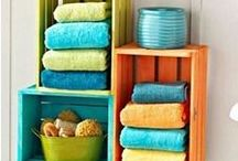 Bathroom Storage Ideas / Clever and space-saving ideas for storing all your toiletries and other bathroom essentials.