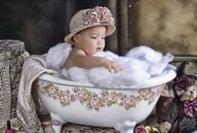 Babies in Tubs / Adorable little ones getting fresh and clean -- what's cuter than that?