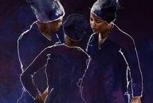 Saskia Frinking - painting women of Africa / Paintings of African women