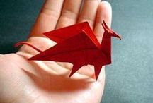 ORIGAMI / The art of paper folding.