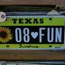 Vintage License Plate Art / Vintage recycled license plate art DIY projects