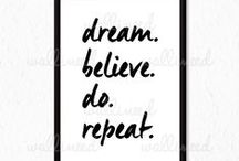 Canvas Prints / Get you daily dose of motivation with this awesome canvas prints!