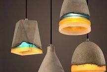 lampy z betonu, concrete lamps