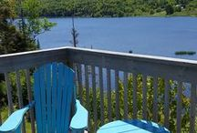 River Denys Lodge / Beautiful lodge at the mouth of the River Denys to the Bras d`Or Lake, Cape Breton Island, Nova Scotia, Canada